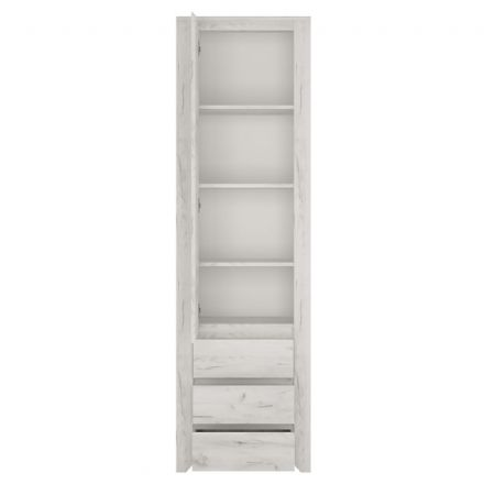 Angel Tall Narrow One Door 3 Drawer Narrow Cupboard.
